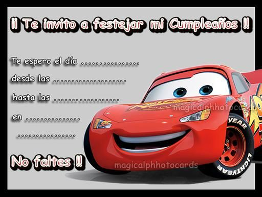 Disney Pixar Peliculas Imagenes Invitacion De Cumpleaños