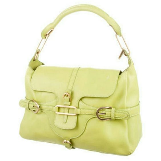Jimmy Choo Tulita AUTHENTIC In good condition, this Jimmy Choo Tulita is a smart buy.  Originally retailed for over $1300, this pretty yellow version makes a great addition to any wardrobe. Some general signs of wear,  but no stains,  rips,  weird odors. Tulita was one of Choo's first forays from shoes to handbags. Purchased at Saks. Jimmy Choo Bags Shoulder Bags