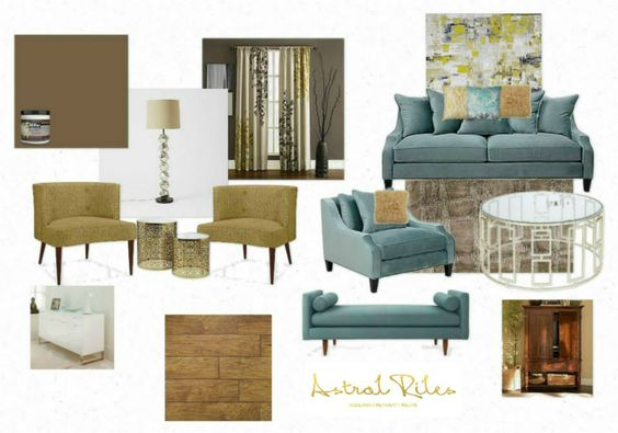 Mood Board Color Scheme Turquoise Mustard Yellow Brown Blues Yellows Pair So Well