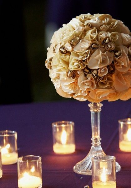 My Wedding Centerpieces Paper Flowers Pinterest Centrepieces And