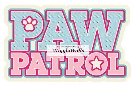 PAW PATROL SKYE Decal Removable WALL STICKER Home Decor Art Kids Dog