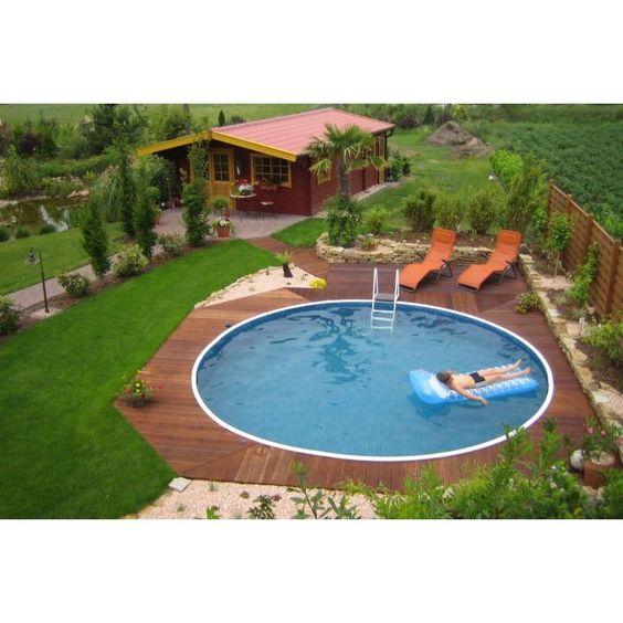 holz pool halbversenkt - Google-Suche around the house