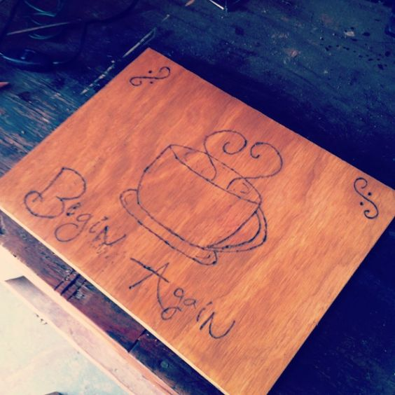 #DIY with a piece of wood and a hot saudder. Aka- burning wood with metal. #taylorswift #beginagain