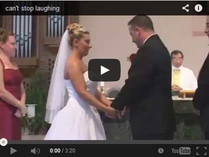 Best Man's Pants On The Ground It all started when the best man's pants rolled down… the it is all laughter after that! This has got to be the most laughable wedding ceremony ever! Watch and enjoy.