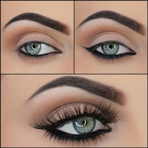 Heavier eyeliner on the bottom rather than the top: