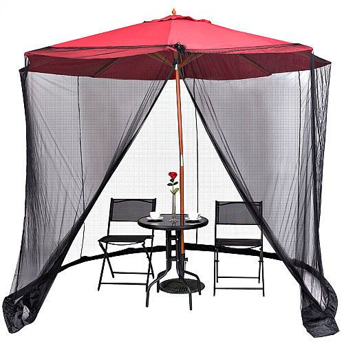 Outdoor Umbrella Mosquito Net 9 10ft Garden Parasol Cover Bug Insect Protection Smartdealsmarket Gardenumbrella Patio Umbrella Patio Umbrella Covers Patio