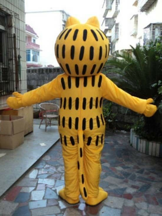 Garfield Mascot Costume Adult game Unisex Fancy Dress Outfits Cosplay Halloween