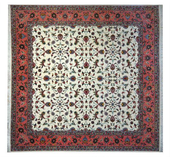 www.tappeti-irana.com  #TABRIZ 60RAG #TAPPETO #PERSIANO , #LANA KORK E #SETA   MISURA : 255X250 #homedecor #design #interior #oriental #rugs #art