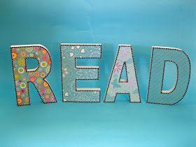 Classroom DIY: DIY Decorative Letters