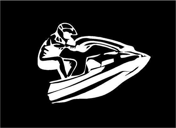 Sport Silhouette Seadoo Jetski Jump Car Tablet Vinyl Decal