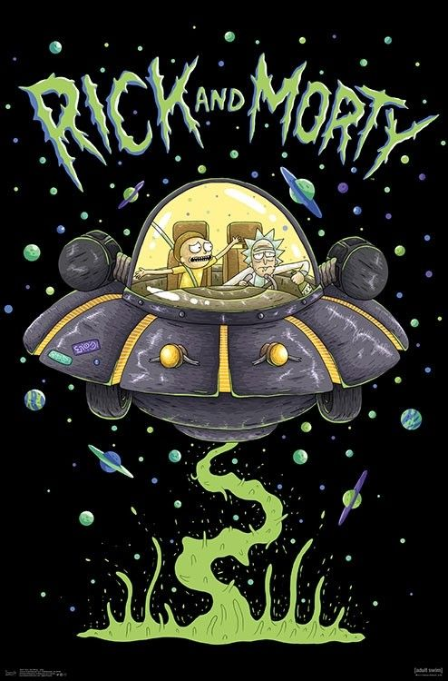 Rick Morty Ship Poster 22 375 X 24 In 2021 Rick And Morty Drawing Rick And Morty Poster Rick And Morty