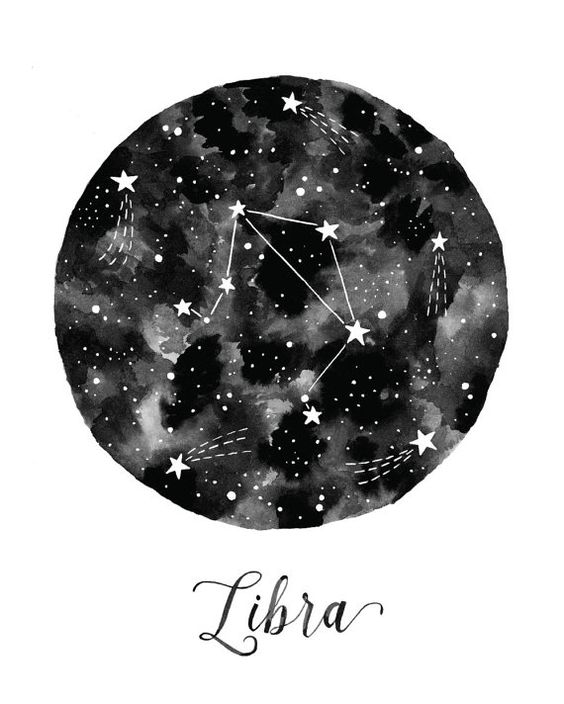 Libra Constellation Illustration - Vertical