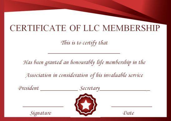 Llc Membership Certificate Template Word 1 With Regard To Llc Membership Certificate Template Word Certificate Template Certificate Templates Certificate
