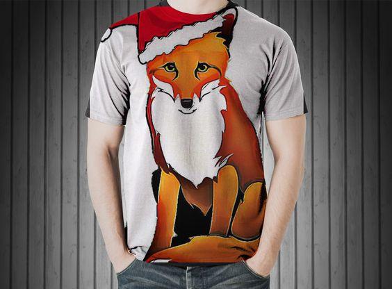T-Shirt - Fuchs cap christmas december