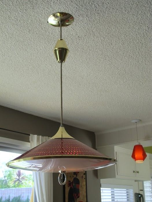 Anyone Else Have A Pull Down Light Like This Over Their Kitchen Or Dining Roo Pendant Lighting Dining Room Mid Century Light Fixtures Rustic Pendant Lighting