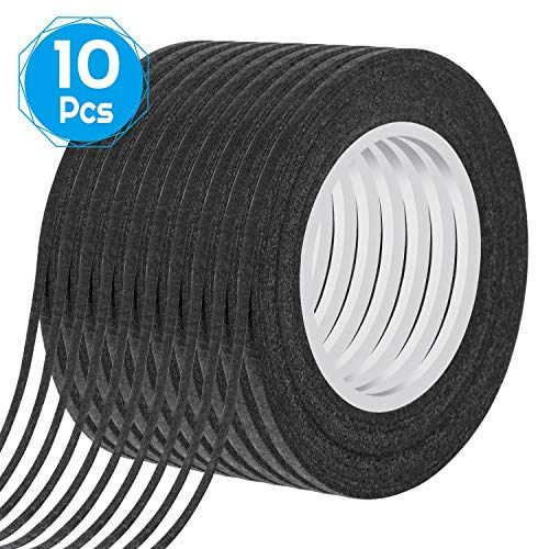 Whiteboard Tape Shynek 10 Rolls 1 8 Thin Art Tape Dry Erase Chart Tape Pinstriping Electrical Tape White Board Tape Whiteboard Tape Dry Erase Electrical Tape