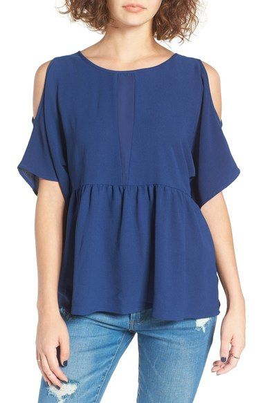 BP. Cold Shoulder Peplum Top available at #Nordstrom
