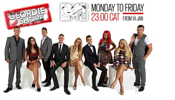 """""""Jersey Shore"""" spin-off """"Geordie Shore"""" hits MTV!  For more news about Geordie Shore, go to www.facebook.com/MTVonDStv or join the conversation about Geordie Shore on Twitter at www.twitter.com/MTVonDStv, using the hashtag #GeordieShore."""