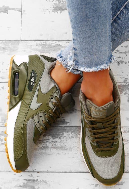Nike Air Max 90 Khaki Trainers - UK 3