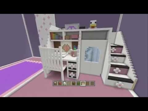 Minecraft How To Make A Girls Bedroom Youtube Easy Minecraft Houses Minecraft Houses For Girls Cute Minecraft Houses