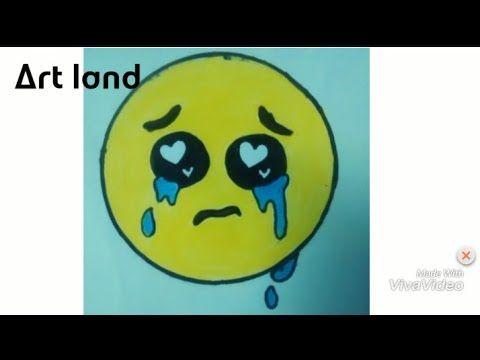 رسم ايموجي يبكي بخطوات بسيطه كيوت للمبتدئين والأطفال رسم ايموجي 2 Crying Emoji Drawing Cute Youtube Art Character Fictional Characters