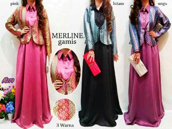 Busana Muslim Gamis Marline Kode Baju M279 Harga