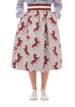 Pipistrello Horse Print Skirt