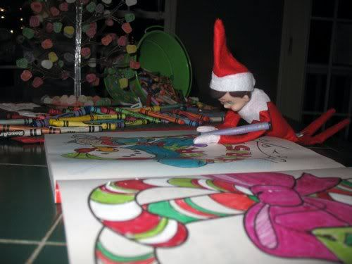 Elf on the Shelf coloring!