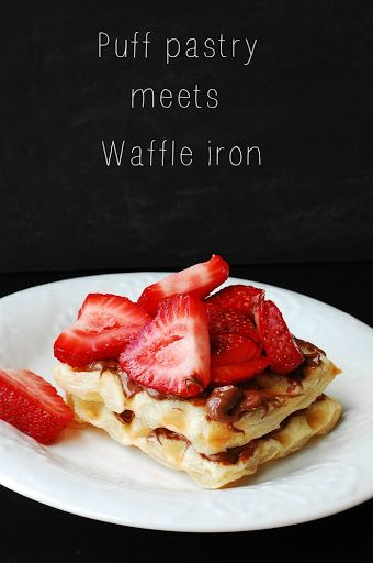 Puff pastry meets waffle iron
