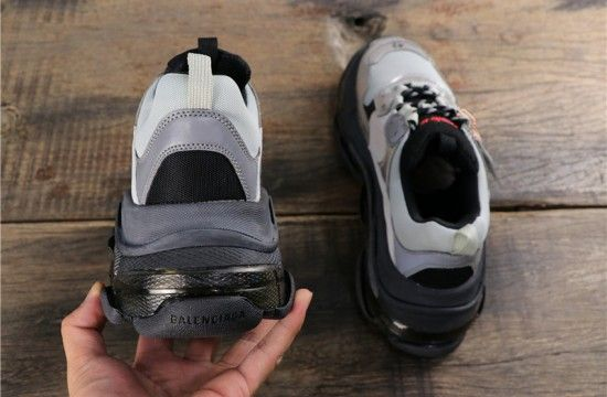 All The Balenciaga Triple S Leather And Mesh Trainers