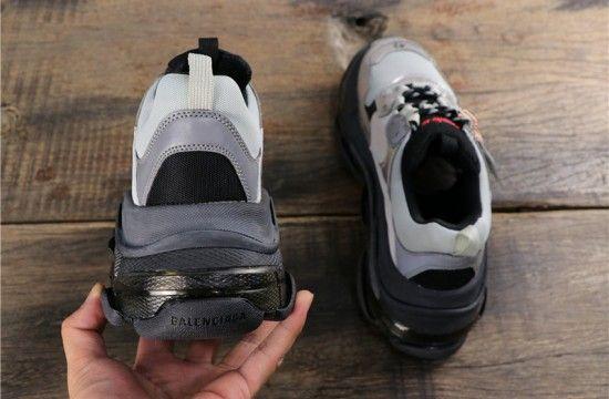 five my balenciaga triple s trainers bicolour black grey Shopee