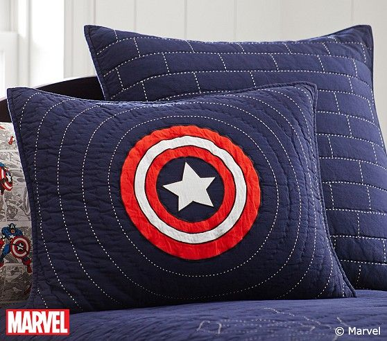 Captain America Standard Sham - I want to make my own version of this.