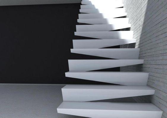 Stair-design-by-Notdesigni #design #scale #stairs escada desigb da a sensação de ser torta
