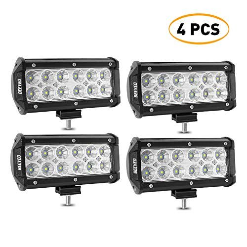 Led Light Bar Beeyeo 7 Inch 36w Flood Led Bar Off Road Lights 12v 4pcs Led Driving Work Light For Jeep Boat Truck Suv With Images Driving Work Led Light Bars
