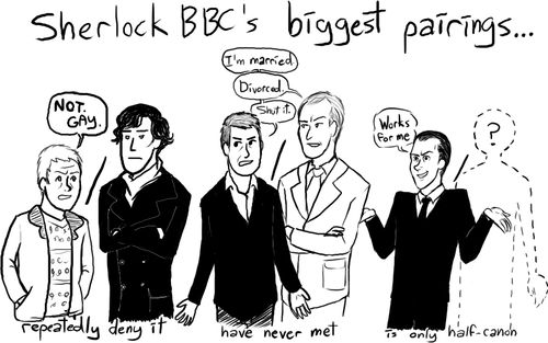 yup, that's how the fandom rolls... shipping Moriarty with Moran. TRUE CONAN DOYLE READERS KNOW HIS EXISTENCE.