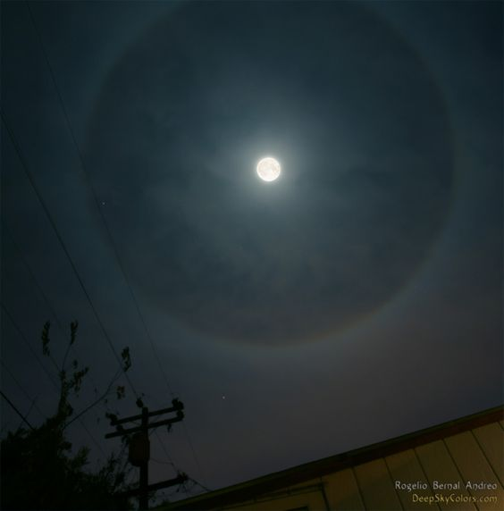 COMMENTS On the night of November 24th, 2007 I was lucky enough to catch a lunar halo right above my house, under a full moon. Of course I w...