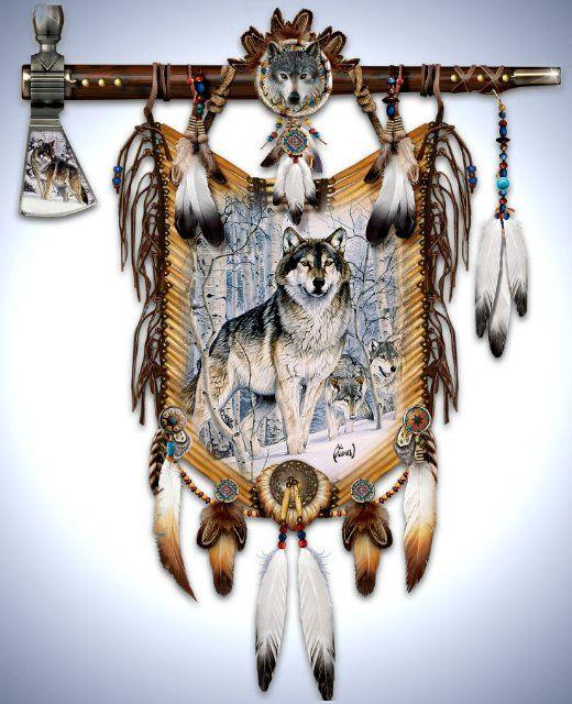 Native American Indian Home Decor: Sacred Sentinels Wall Decor