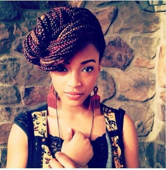 Admirable Box Braids Updo Hairstyles For Black Women And Box Braids On Hairstyles For Women Draintrainus