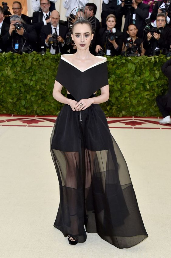 Lily Collins in Givenchy.