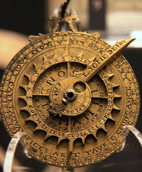 Astrolabe, magnificent computer of the Ancients—an instrument used to make astronomical measurements, before the development of the sextant