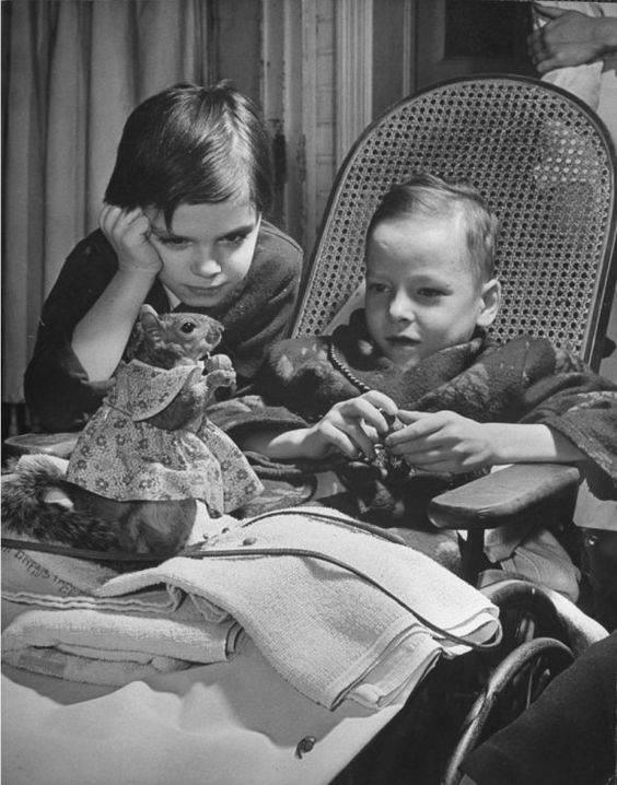 """In the early 1940s, LIFE magazine reported that a Mrs. Mark Bullis of Washington, D.C., had adopted a squirrel """"before his eyes were open, when his mother died and left him in a tree"""" in the Bullis's back yard. Here, in a series of photos by Nina Leen, LIFE.com chronicles the quiet, rodential adventures and sartorial splendor of Tommy Tucker, the orphaned — and, in 1940s America, the celebrated — squirrel"""