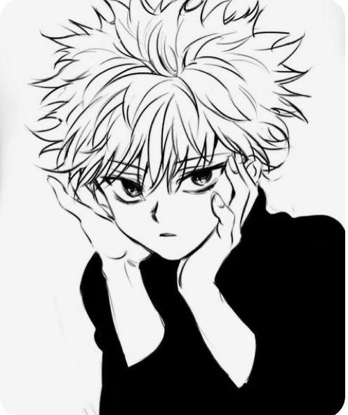 Dessin Kirua En 2020 Manga Noir Et Blanc Kirua Chasseurs