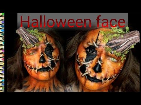 شاهد رسومات هالوين على الوجه 2019 Halloween Face Youtube Halloween Face Halloween Face Makeup Face