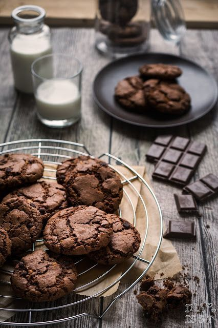 Schokoladige Chocolate-Chip-Cookies / Double Chocolate-Chip-Cookies | Ina Is(s)t