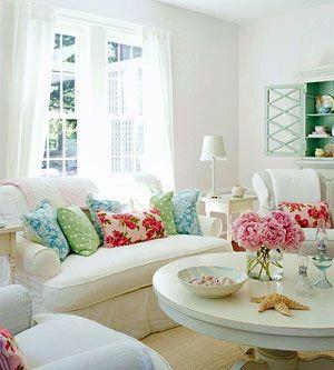 flowery living room