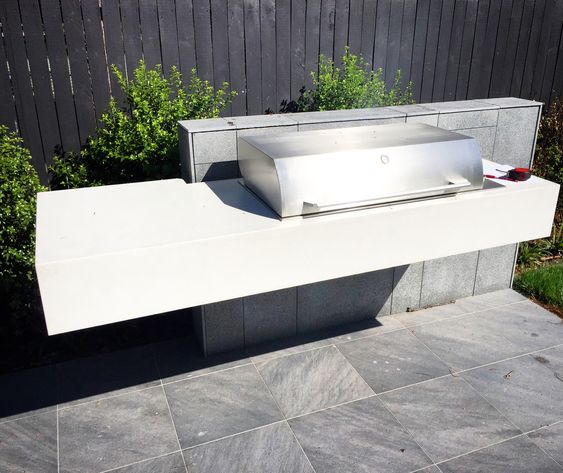 Polished Concrete Outdoor Kitchen/BBQ Benchtop By Mitchell
