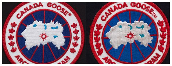 "Canada Goose coats replica authentic - How to spot a fake ""Canada Goose"" jacket. Logo on the left is real ..."