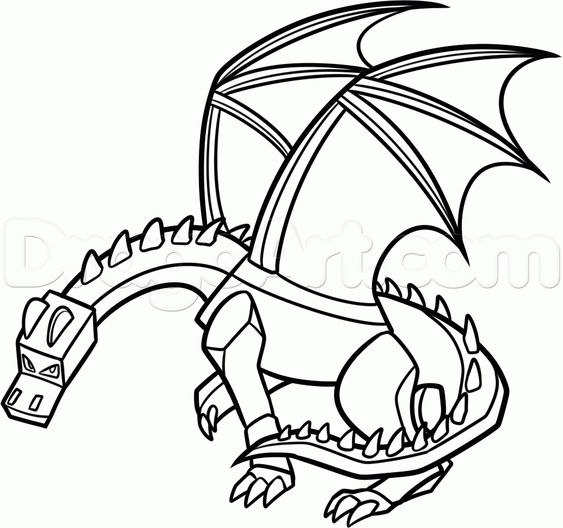 Coloriage a imprimer minecraft 5 axel pinterest - Dessin dragon couleur ...