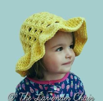 Lazy Daisy Floppy Sun Hat (infant-toddler-child) - Free Crochet Pattern - The Lavender Chair