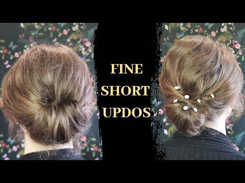 Easy Twisted Updos For Short Fine Hair Fine Hair Updo Tutorial Hair Up Training Course Harry Jon Hmua In 2020 Short Hairstyles Fine Hair Up Tutorials Fine Hair Updo